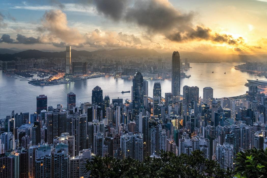 view of Hong Kong bay